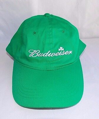 Budweiser Shamrock Hat St Patrick's Day Embroidered Baseball Beer Busch