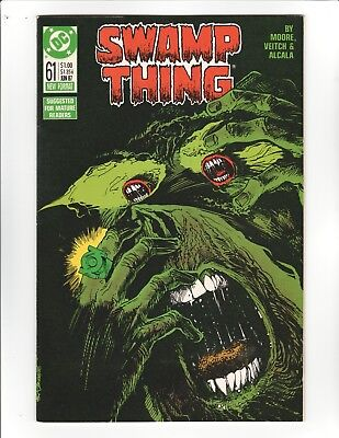 Swamp Thing #61 - Alan Moore and Green Lantern - 9.6 Near Mint +