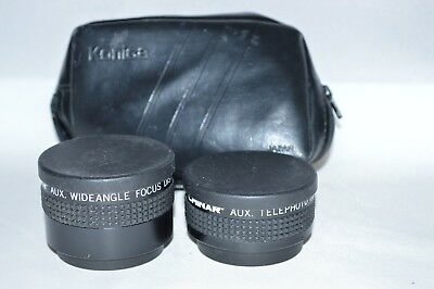 Chinar Aux. Lens Set (Telephoto & Wide Angle) w Caps / Case Made Japan (LN-22)