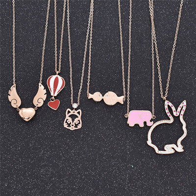 1pc Unique 18k Gold Chain Plated Necklace Pandant Multi Cute Jewellery Gift Cute