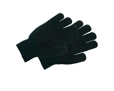 NEW Magic stretch riding gloves pimple palm 1 size Adult  Black FREE POSTAGE