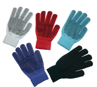 Magic stretch riding gloves pimple palm 1 size Adult assorted colours FREE POST