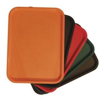 """Non-Slip Fast Food Tableware Serving Tray Brown 14"""" x 18"""" - Sold Individually"""