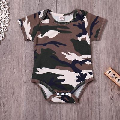 Toddler Newborn Kids Baby Boys Girls Camouflage Rompers Jumpsuit Outfits Clothes