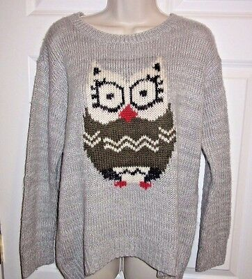 OWL Collectible SWEATER sz L  gray tunic length Rewind womens Soft cozy