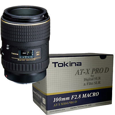 New Tokina 100mm f/2.8 AT-X M100 AF Pro D Macro Lens - Canon EOS