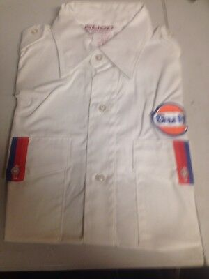 Vintage NOS Gulf Gas Oil Service Station Shirt Made By Lion