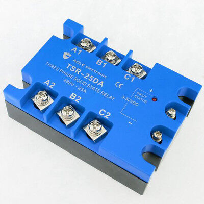 TSR-25DA three phase DC to AC 25A 480V solid state relay / SSR