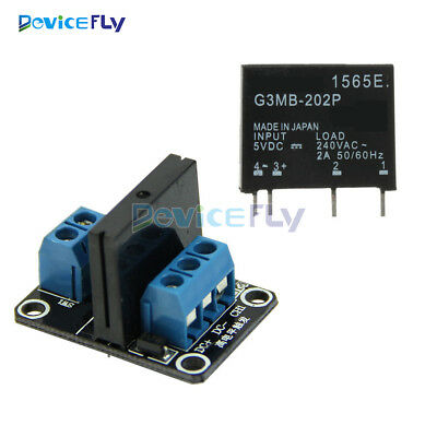 5V 1 Channel OMRON SSR G3MB-202P Solid State Relay with Resistive Fuse Module
