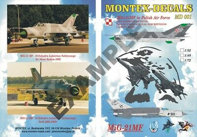 Montex Decals 1:48  Mig-21 MF for Eduard & Academy Model #MD4801