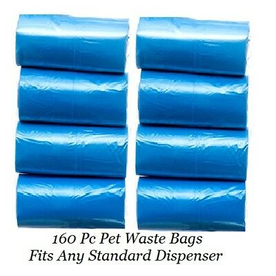 160 Pc Pet Dog Cat Poop Pick Up Scoop Scoopers Poo Puppy Waste Bags Refills Roll