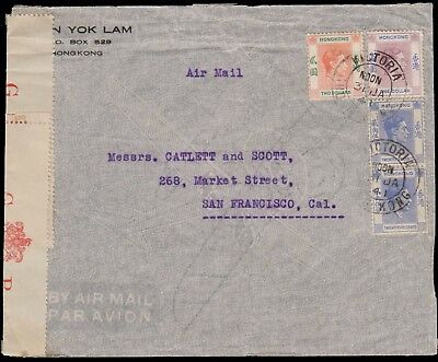 Hong Kong Censored Air Mail Cover Addressed To The United States