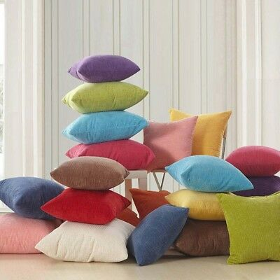Large Plain Corduroy Cushion Cover Multi Colours Pillow Cases 40x40cm-50x50cm Q&