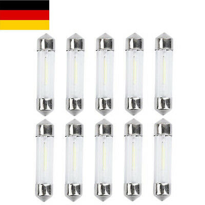 10St 39mm LED Soffitte Canbus Lampen SMD COB C5W Standlicht Innenraumbeleuchtung