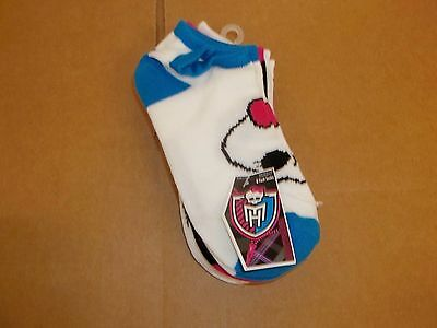 5 Pairs Monster High Girls No Show Socks-Size 9-11 OR Size 6-8.5