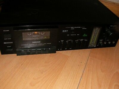 Nikko Nd 700 Ii Two Heads Vintage Cassette Deck