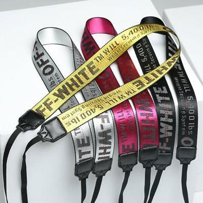 Fashion Off White Letter Print Camera Neck Shoulder Strap Belt for Camera 5Color