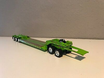 Lime Green Dcp 1/64 Fontaine Tri Axle Lowboy W/ Jeep