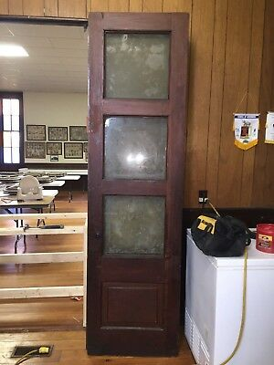 Antique Vintage Folding  Wood Interior  Doors  8 ft by 26 inch      set of 4