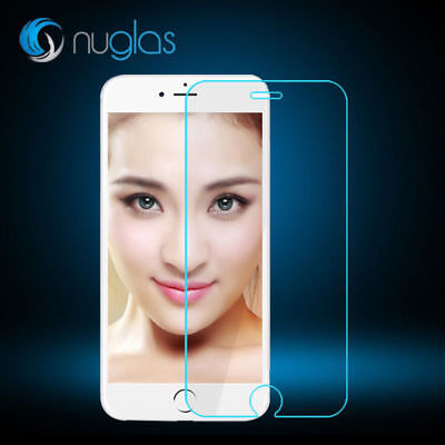 2 X NuGlas Tempered Glass Screen Protector For iPhone X/7/7+/8/8+Crystal Clear