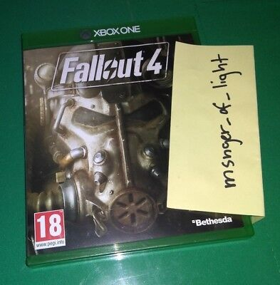 Fallout 4 Xbox One Game Case and Vault Boy Perks Poster