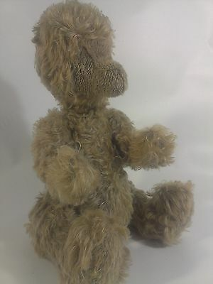 Vintage MOHAIR Bear Plush RARE FACELESS TEDDY Jointed Antique BING?? Bear 15""