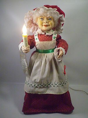 """Mrs Santa Claus Christmas Holiday Lighted Animated Motionette 23""""GrandMother"""