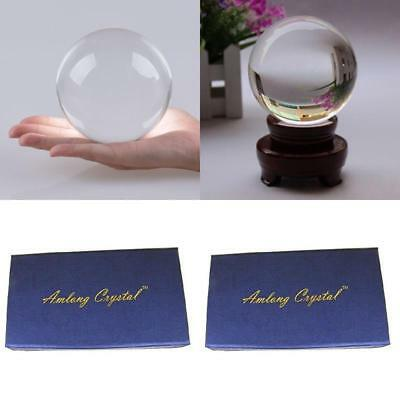 80Mm New Clear Crystal Ball Sphere Asian Quartz (3) + Free Wooden Stand