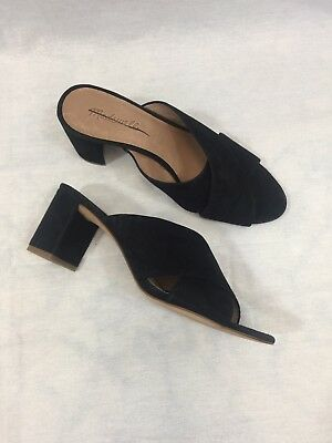 36489330e43 Madewell  148 The Greer Mule Sandal Size 9.5 Black G1982 Heels Shoes New