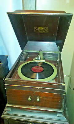Antique Hand Crank Mahogany Victor Victrola VV-IX Phonograph Talking Machine
