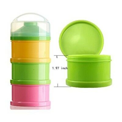 Baby Milk Powder Dispenser Snack Container BPA Free Multi Function/Colour New