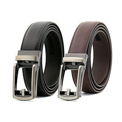 Comfort Click Belt Leather Steel No Holes Automatic Buckle Men As Seen On TV