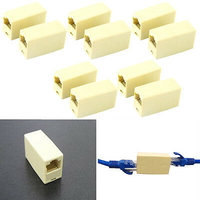 10X Cat5 5e RJ45 Netzwerk Kabel Stecker Ethernet Lan Cable Plug Connector  NEU.