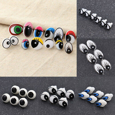 6 Sizes Plastic Safety Cartoon Eyes For Toy Animal Doll Puppet Washers Gift