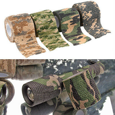 4.5m*5cm Waterproof Wrap Hunting Camping Hiking Camouflage Stealth NEU.