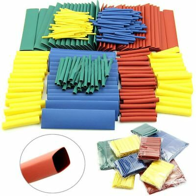 8 Sizes 328/530Pcs Wire Wrap Kit Heat Shrink Tubing Assorted 2:1 Cable Sleeve