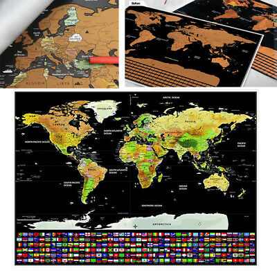 Large Scratch Off World Map Personalized Travel Poster Travel Atlas Decor AU NSW