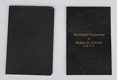 Rebekah Lodge 1913 Memorial & Funeral Ceremony Pamphlets Odd Fellows Ioof Mason