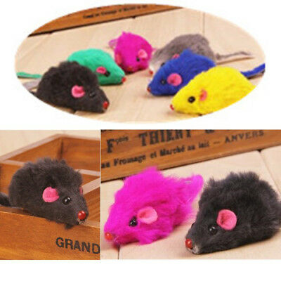 2pcs Kitten Car Play Playing Toys False Mouse in Rat For Pet Cat Funny Gift FR