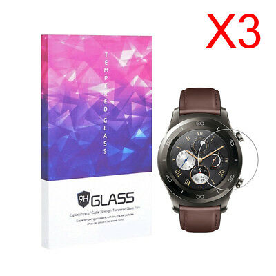 For Huawei Watch 2 Pro Tempered Glass Screen Protector 9H Hardness (3 Packs)