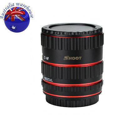 Pro Auto Focus Macro Extension Tube Adapter Ring Set for Canon DSLRs EF EOS EF-S