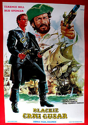 BLACKIE THE PIRATE 1970's TERENCE HILL BUD SPENCER SILVA MONTI EXYU MOVIE POSTER