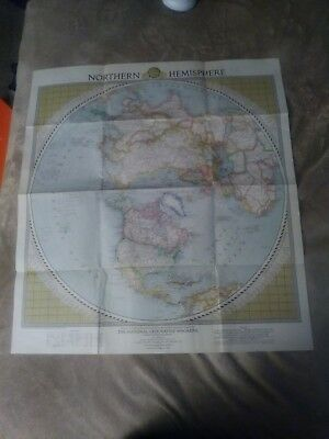 1946 National Geographic Northern Hemisphere Map