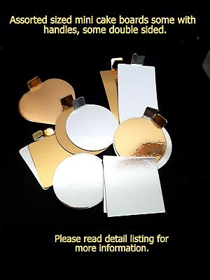 Mini Masterpiece Cake Board Gold Silver Display Wedding Baby Shower Baking Party