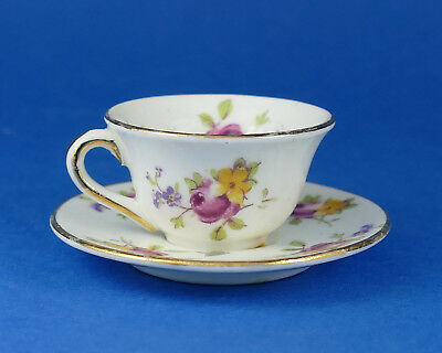 FOLEY CHINA - Miniature CUP & SAUCER - Floral Pattern - Salesmans Sample ?