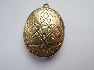 Vintage early 20th century gold tone locket