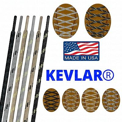 KEVLAR Round Boot Shoelace Lace Strings 40 45 54 63 72 84 Inch Made in USA!
