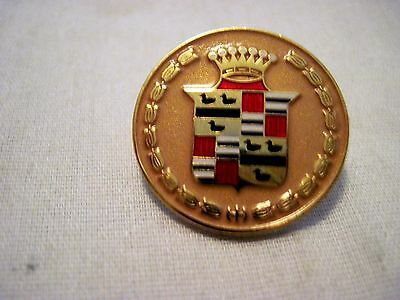 Cadillac Gold Colored Round Insignia Hat Pin,lapel Pin