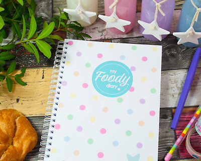 My Foody Diary: Food Planner (12 months), tracker, meal planning, handmade, A5