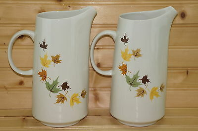 "Franciscan Indian Summer (2) Tall Pitchers, 8 1/4"", 32 ounces"